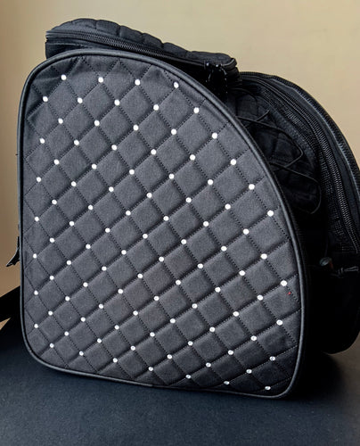 CUBE skate backpack Black with crystals.