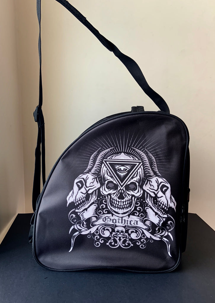 CUBE Shoulder Bag Black with skeleton