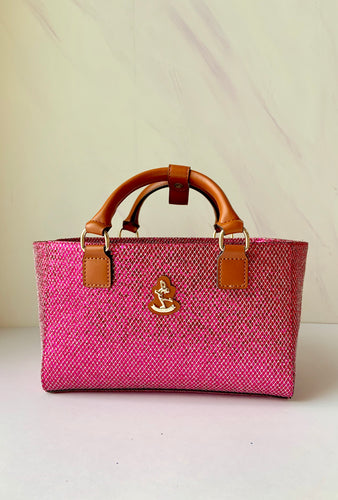 Cube Tote Bag BLING, pink