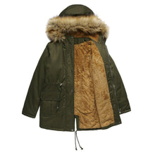 Load image into Gallery viewer, Super warm waterproof Hooded Winter Coat