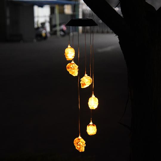 SOLAR SKELETON WIND CHIME LIGHT
