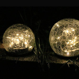 SOLAR LED GLASS BALL GARDEN LAWN LAMP