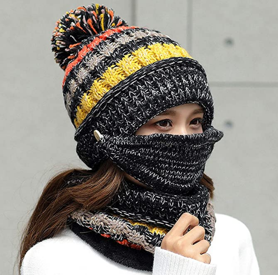 【Buy 2 Free Shipping】3PCS Womens Winter Scarf Set