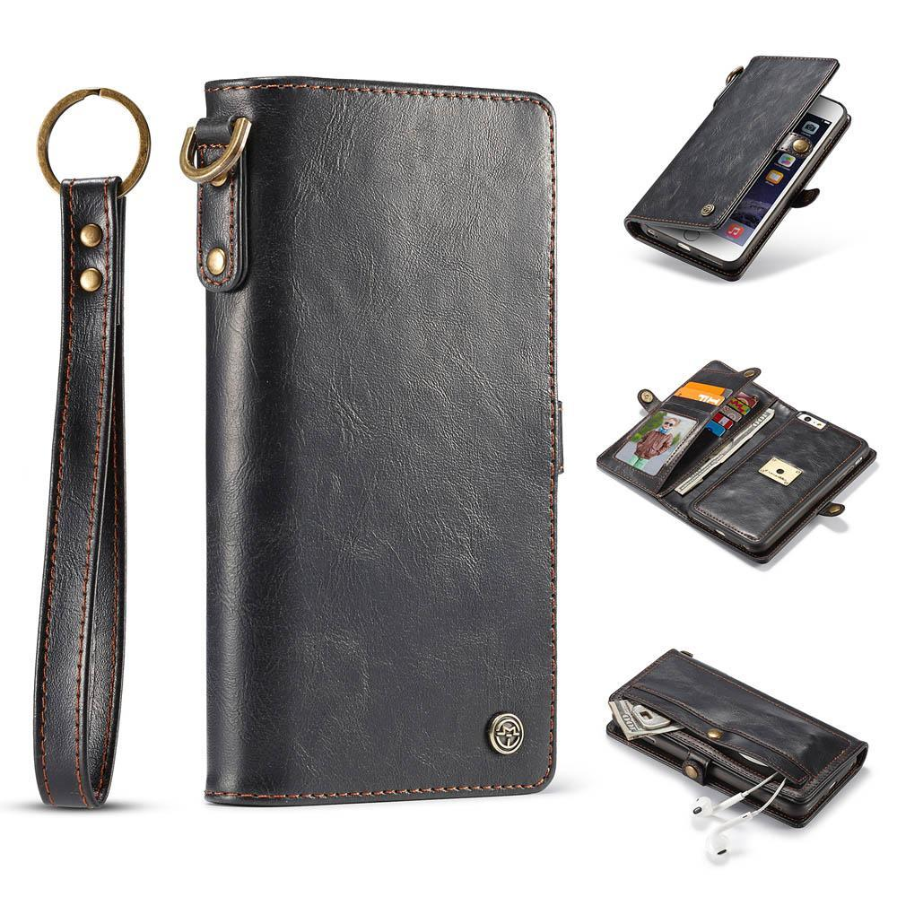 new product 3aa83 7b338 CaseMe For iPhone 6/6s Wallet Magnetic Case With Wrist Strap Detachable 2  in 1 Back Cover