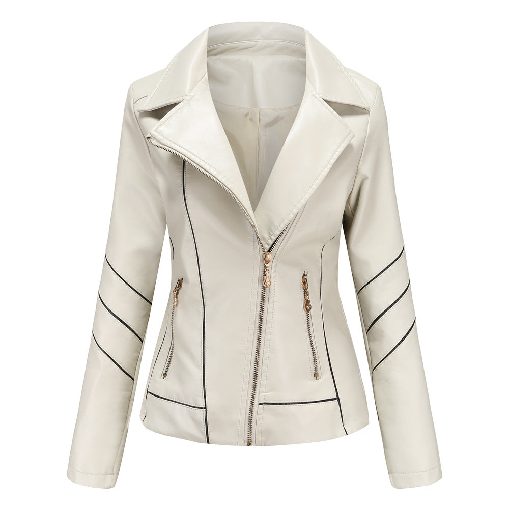 PU Leather Jacket-Thin Slim Short Jacket