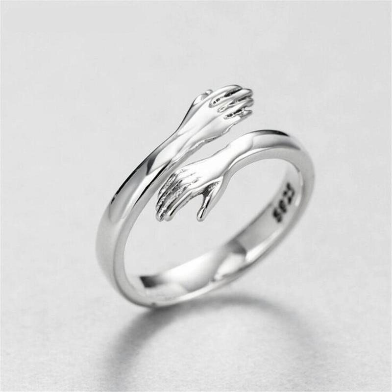 Buy 2 Free Shipping-😍LoveHugRing™ 925 Sterling Silver Hug Ring😍