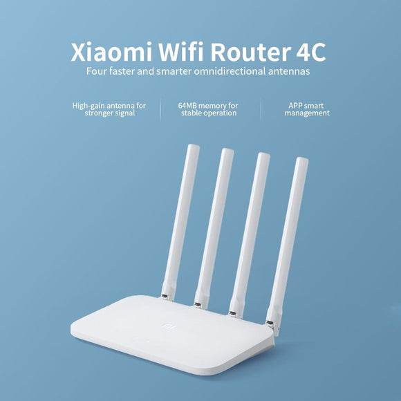 Xiaomi Mi Router 4C WiFi Repeater(300Mbs)MiNet Fast Connect 2.4GHz & 5.0Ghz Dual Band APP Control WiFi Wireless
