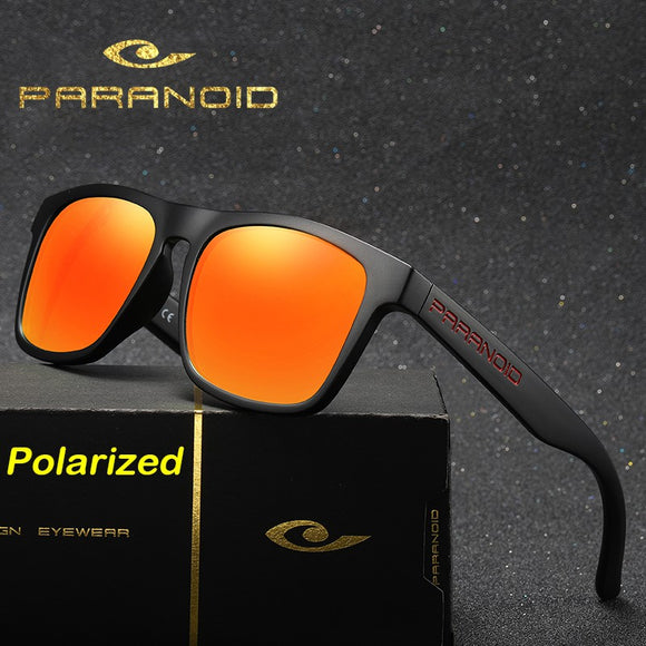 PARANOID Sunglasses Men Polarized Square Mirror Brand Design Luxury Vintage