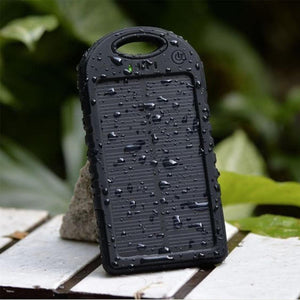 Waterproof Solar PowerBank - Black Color