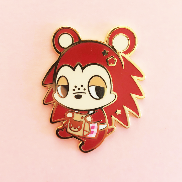 Brown Hedgehog Enamel Pin