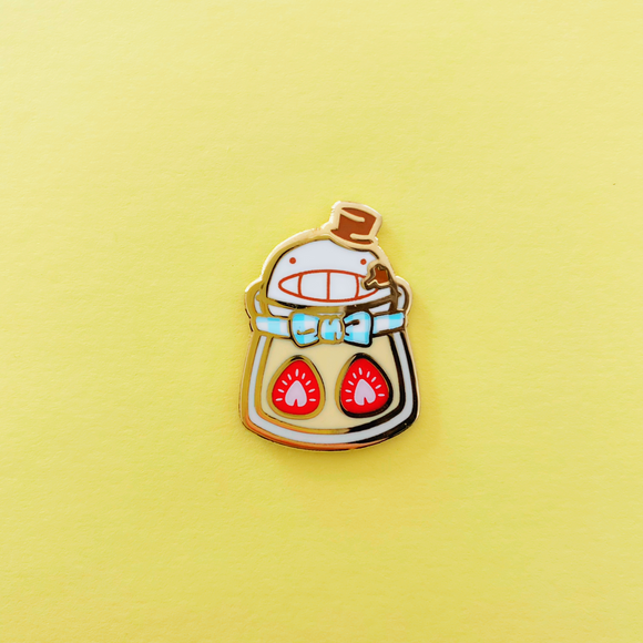 Turnip Milk Pudding Enamel Pin