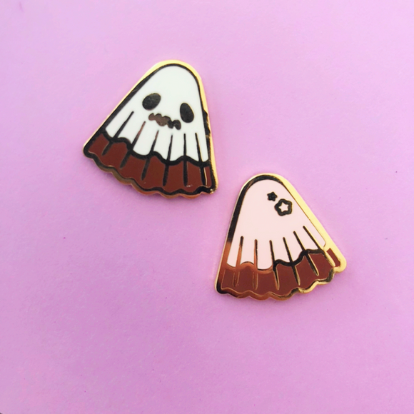 Ghost and Strawb Choco Enamel Pin Set