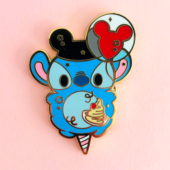 Alien Cotton Candy Enamel Pin
