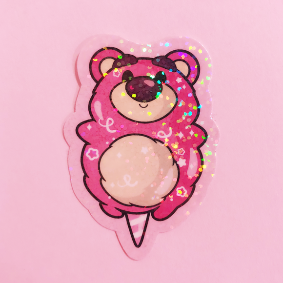 Strawberry Bear Cotton Candy Sticker