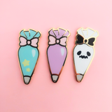 Whipping Cream Friends Piping Cream Enamel Pin