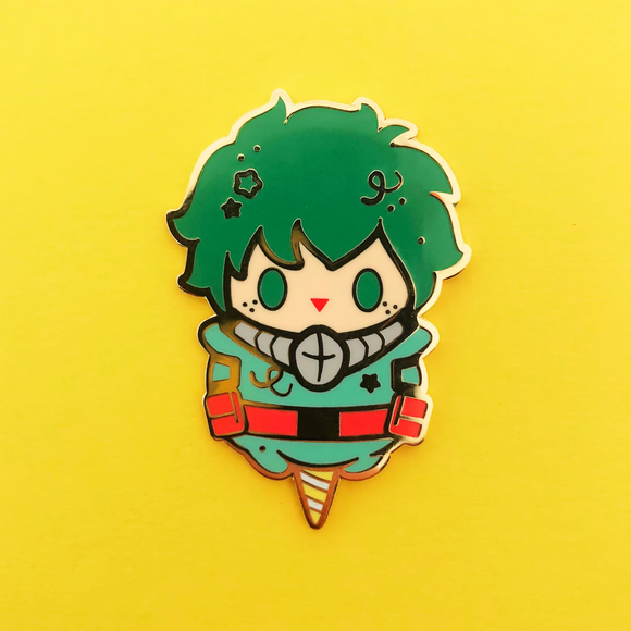 Green Cotton Candy Enamel Pin