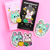 Limited Edition Halloween Birthday Bunny Enamel Pin
