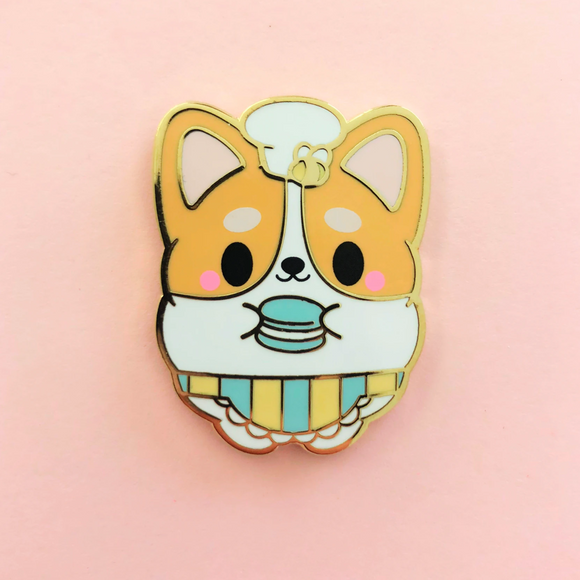 ♥B GRADE♥ Limited Edition Honey & Butter x Sharodactyl Art Butters the Corgi Enamel Pin