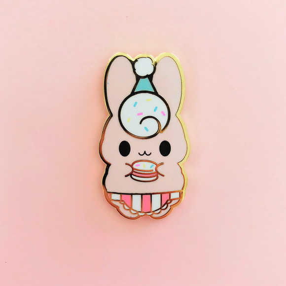 ♥B GRADE♥ Honey & Butter x Sharodactyl Art Birthday Bunny Enamel Pin