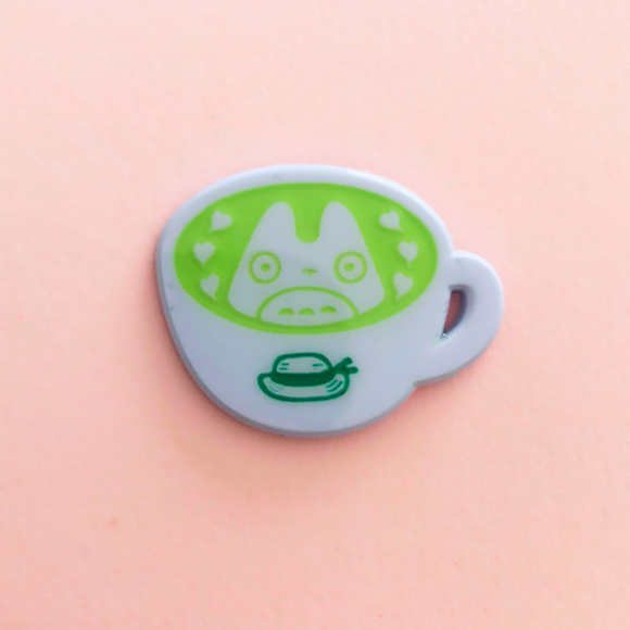 ♥B GRADE♥ Spirit Matcha Latte Dyed Metal Pin