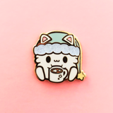 Itty Bitty Cocoa Kitty Enamel Pin
