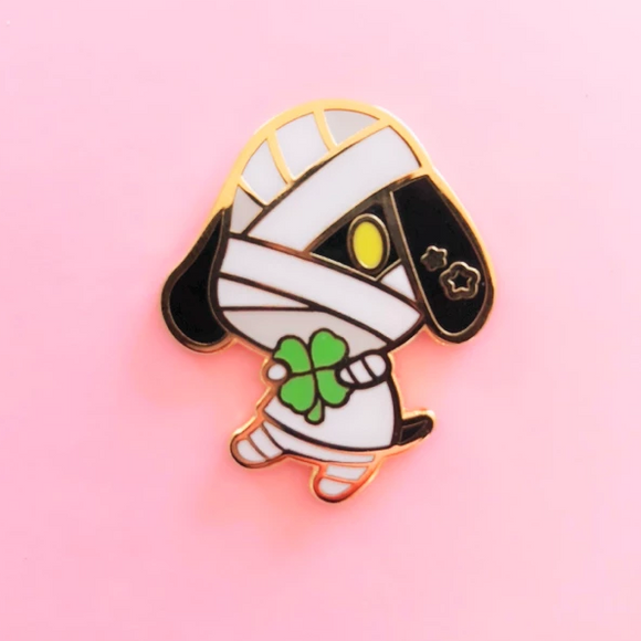 ♥B GRADE PIN♥ Mummy Dog Enamel Pin