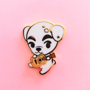 ♥B GRADE PIN♥ White Dog Enamel Pin