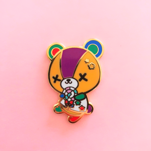 ♥B GRADE PIN♥ Stitched Bear Enamel Pin
