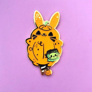 Pumpkin Bunny Cotton Candy Enamel Pin
