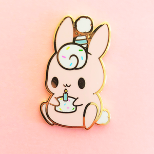 Original Birthday Bunny Enamel Pin