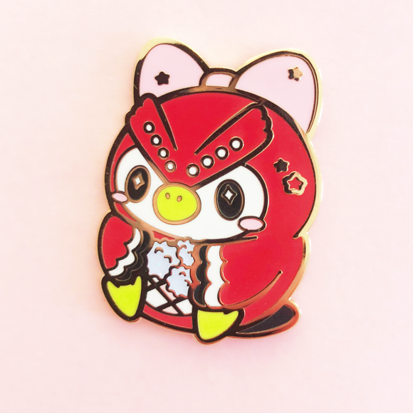 ♥B GRADE PIN♥ Red Owl Enamel Pin