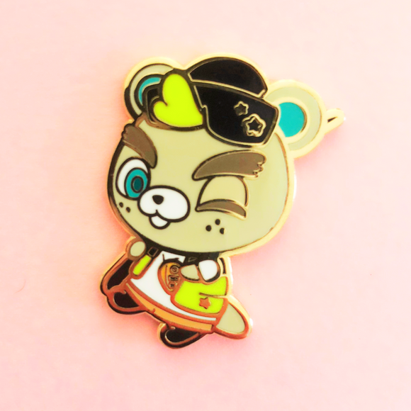 Freckle Beaver Enamel Pin