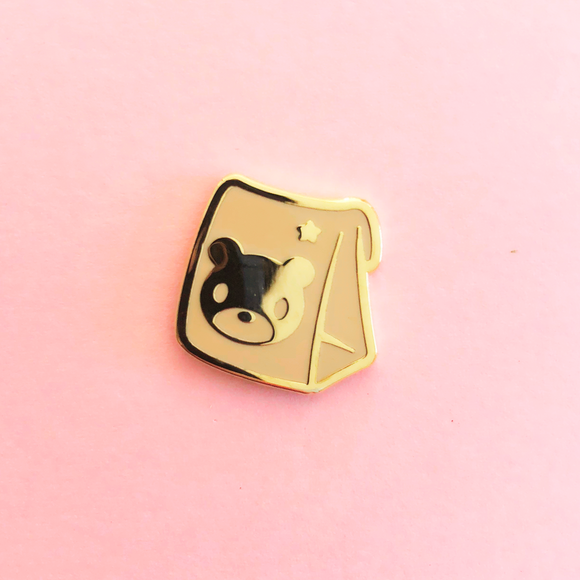 Bear Bag Filler Enamel Pin