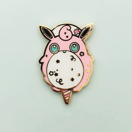 Wiggly Cotton Candy Enamel Pin