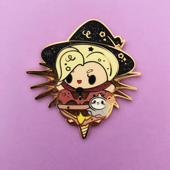 ♥B GRADE♥ Witch Cotton Candy Enamel Pin
