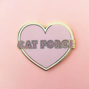 Cat Force Heart Enamel Pin