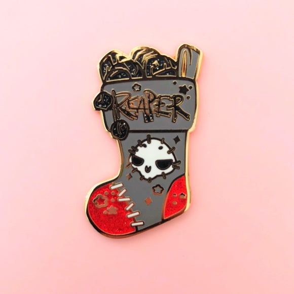 Reaper Stocking Enamel Pin