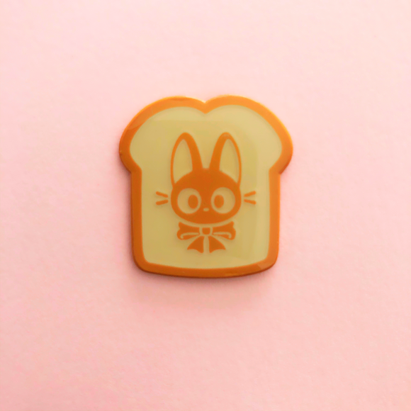 ♥B GRADE♥ Kitty Toast Dyed Metal Pin