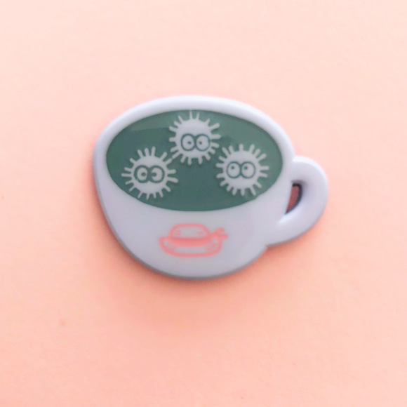 ♥B GRADE♥ Black Sesame Latte Dyed Metal Pin