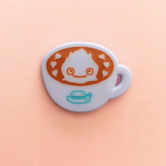 ♥B GRADE♥ Fire Caramel Latte Dyed Metal Pin
