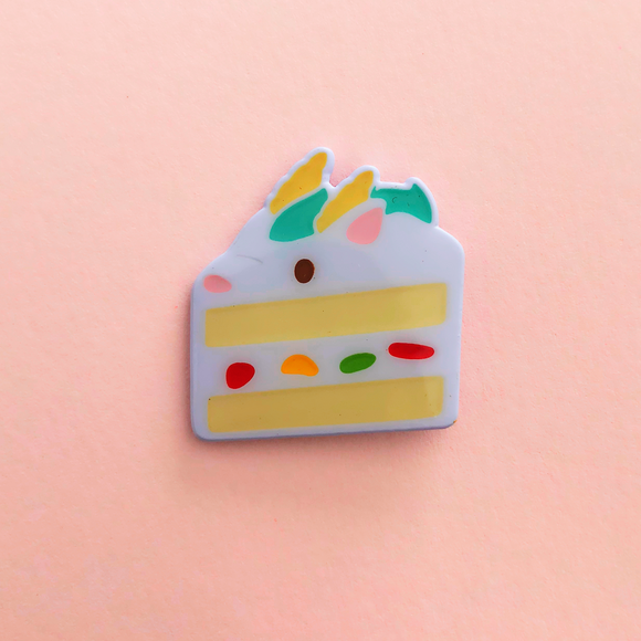♥B GRADE♥ Dragon Fresh Cream Cake Dyed Metal Pin
