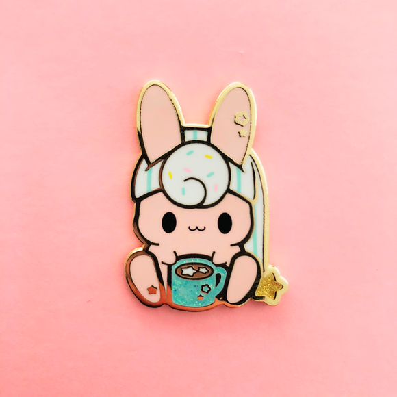 Cocoa Birthday Bunny Enamel Pin