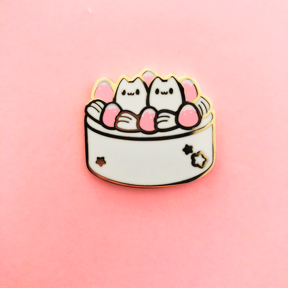 Pink Kitty Cake Enamel Pin