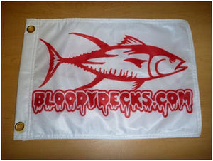 Bloodydecks Tuna Fishing Flags - Bloodydecks - BDOutdoors - Fishing Tee Shirts