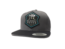 Load image into Gallery viewer, Holy Cow Tuna Flat Brim Hat - Bloodydecks - BDOutdoors - Fishing Tee Shirts