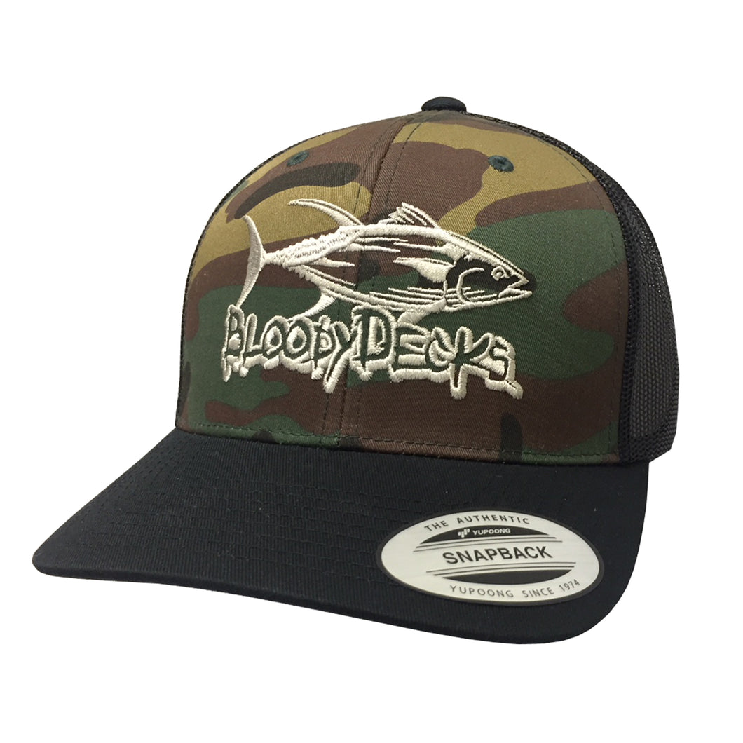 Camo Bloodydecks Tuna Hat - Bloodydecks - BDOutdoors - Fishing Tee Shirts