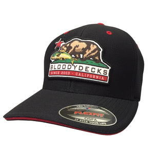 CA Bear Fishing Hat - Bloodydecks - BDOutdoors - Fishing Tee Shirts