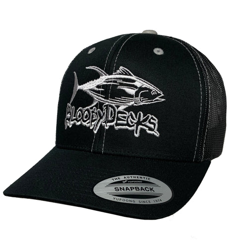 Bloodydecks Black Trucker Hat - Bloodydecks - BDOutdoors - Fishing Tee Shirts