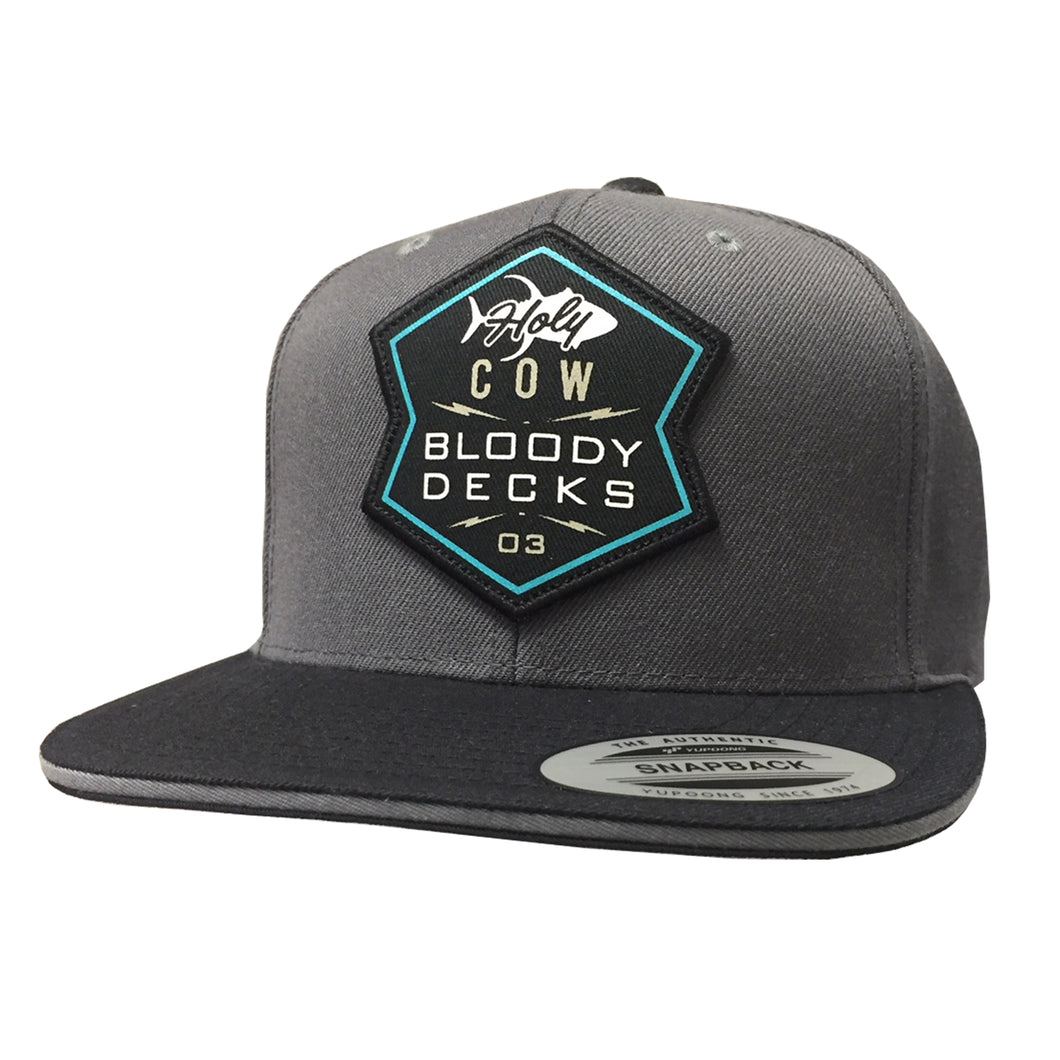 Holy Cow Tuna Flat Brim Hat - Bloodydecks - BDOutdoors - Fishing Tee Shirts