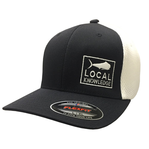 Local Knowledge S3 Black & White Hat - Bloodydecks - BDOutdoors